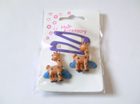 Zoo animal themed sleepie clip and ponio bobble sets (Code 0083)